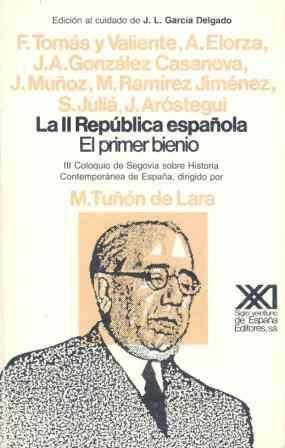 Portada de Segunda Republica Española: El Primer Bienio