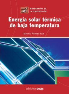 Portada de Energia Solar Termica De Baja Temperatura