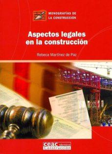 Portada de Aspectos Legales En La Construccion