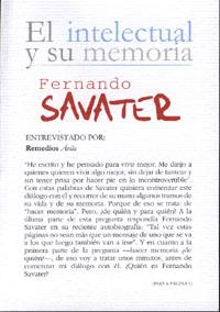 Portada de Fernando Savater: El Intelectual Y Su Memoria