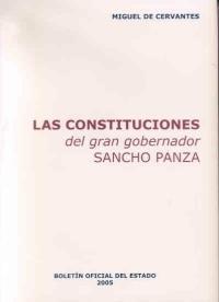 Portada de Las Constituciones Del Gran Gobernador Sancho Panza (segunda Part E: Capitulos Xlii A Lii) (ed. Facsimil)
