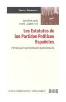 Portada de Los Estatutos De Los Partidos Politicos Españoles.