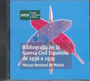 Portada de Bibliografia De La Guerra Civil Española De 1936 A 1939 (1 Cd-rom )