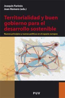 Portada de Territoriaridad Y Buen Gobierno Para El Desarrollo Sostenible