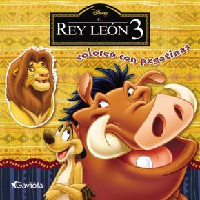 Portada de El Rey Leon 3 (coloreo Con Pegatinas)