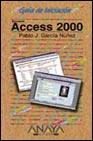 Portada de Guia De Iniciacion Access 2000