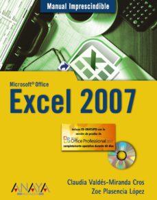 Portada de Excel 2007: Manual Imprescindible (incluye Cd-rom)