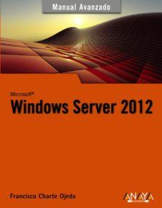 Portada de Windows Server 2012 (manual Avanzado)