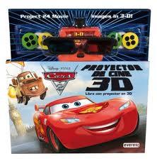 Portada de Cars 2: Libro Con Proyector De Peliculas En 3d