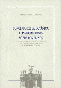 Portada de Concepto De La Botanica: Consideraciones Sobre Los Reinos