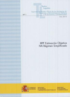 Portada de Irpf Estimacion Objetiva: Iva Regimen Simplificado