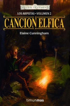 Portada de Cancion Elfica (reinos Olvidados. Los Arpistas Vol. 2)