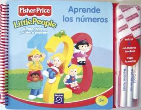 Portada de Aprende Los Numeros (fisher-price Little People) (incluye 3 Rotuladores Lavables Y 1 Trapo Borrador)