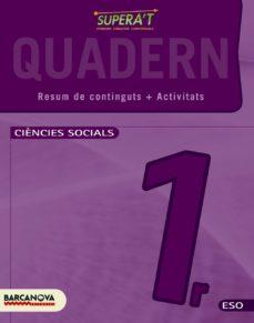 Portada de Supera T. Ciències Socials 1 Eso. Quadern