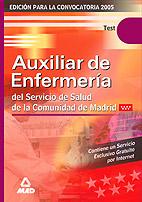 Portada de Test Auxiliar De Enfermeria Servicio Madrileño De Salud