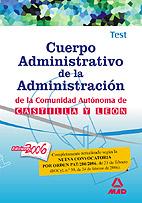 Portada de Cuerpo Administrativo De La Administracion De La Comunidad Autono Ma De Castilla Y Leon: Test
