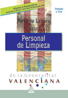 Portada de Personal Laboral De La Generalitat Valenciana. Personal De Limpie Za. Temario Y Test.