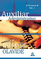 Portada de Auxiliar Administrativo De La Universidad Pablo De Olavide. Temar Io (vol. I)