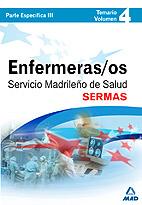 Portada de Enfermeros Del Servicio Madrileño De Salud (sermas). Temario (vol . Iv) (parte Especifica Iii)