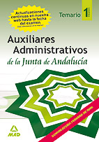 Portada de Auxiliares Administrativos (d10) De La Junta De Andalucia. Temari O. Volumen I
