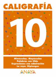Portada de Caligrafia 10 (primaria) (ed. 2004)