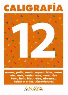 Portada de Caligrafia 12 (primaria) (ed. 2004)