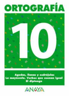 Portada de Ortografia 10 (primaria) (ed. 2004)