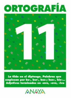Portada de Ortografia 11 (primaria) (ed. 2004)