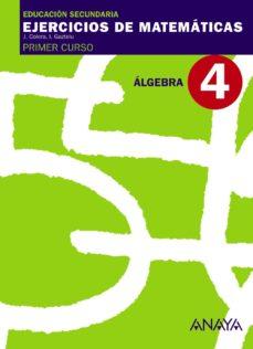 Portada de Cuaderno 4 Algebra (1º Eso)