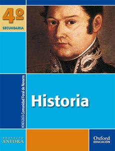 Portada de Anfora Historia 4º Eso La/mg Navarra
