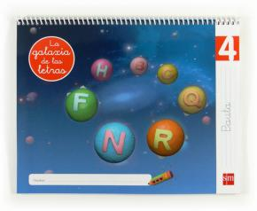 Portada de Lectoescritura La Galaxia De Las Letras 5 Años Nivel 4 Pauta Educ Acion Infantil