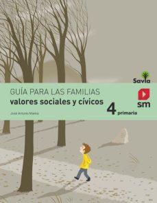 Portada de Valores Sociales Y Civicos 4º Educacion Primaria Savia Ed 2015
