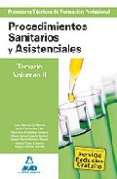 Portada de Cuerpo De Profesores Tecnicos De Formacion Profesional. Procedimi Entos Sanitarios Y Asistenciales. Volumen Ii