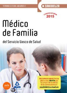 Portada de Medico De Familia De Osakidetza-servicio Vasco De Salud. Temario General. Volumen 2