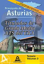 Portada de Titulados De Grado Medio/ats Del Era (establecimientos Residencia Les Para Ancianos De Asturias) Temario Volumen Iii