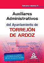Portada de Auxiliar Administrativo Del Ayuntamiento De Torrejon De Ardoz. Te Mario Vol. Ii