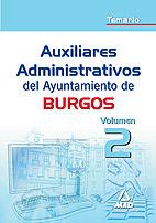 Portada de Auxiliares Administrativos Del Ayuntamiento De Burgos. Temario. V Olumen Ii