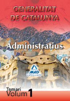 Portada de Administratius De Lageneralitat. Temari Vol, I