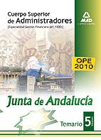 Portada de Temario Oposiciones Cuerpo Superior De Administradores (especialidad Gestion Financiera A1 1200 De La Junta De