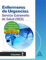 Portada de Enfermeros De Urgencias Del Servicio Extremeño De Salud (ses): Te Mario De Materias Especificas. Volumen Ii