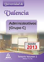 Portada de Administrativos(Grupo C)de La Universidad De Valencia Temario Vol.ii (Temas 17-35)