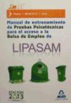 Portada de Manual De Entrenamiento De Pruebas Psicotecnicas Para El Acceso A La Bolsa De Empleo De Lipasam