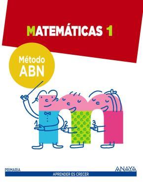 Portada de Matematicas 1. Metodo Abn.