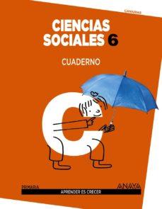 Portada de Ciencias Sociales 6º Educacion Primaria Tercer Ciclo Cuaderno Aprender Es Crecer Canarias