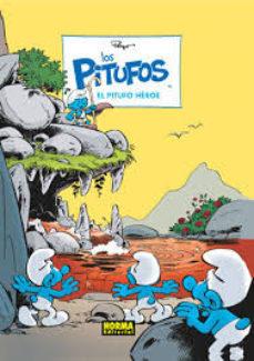 Portada de Pitufos 34: El Pitufo Heroe