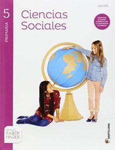Portada de Ciencias Sociales 5º Primaria + Atlas Aragon