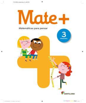 Portada de Matematicas + Matematicas Para Pensar 3º Educacion Primaria Saber Hacer Ed 2016