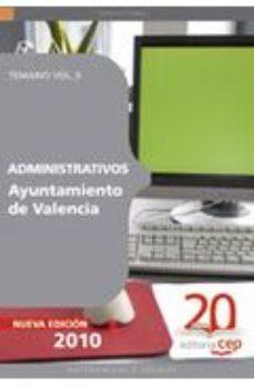 Portada de Administrativos Del Ayuntamiento De Valencia. Temario Vol. Ii.