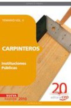 Portada de Carpinteros Instituciones Publicas. Temario Vol. Ii.