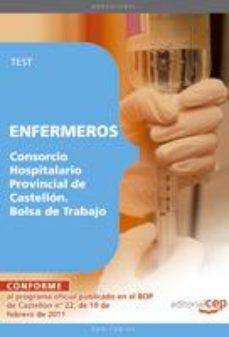 Portada de Enfermeros Del Consorcio Hospitalario Provincial De Castellon. Bo Lsa De Trabajo. Test
